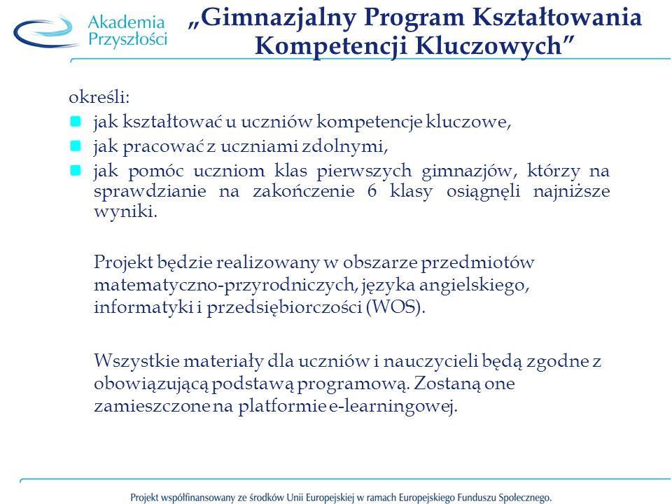 """""""Gimnazjalny Program Kształtowania Kompetencji Kluczowych"""