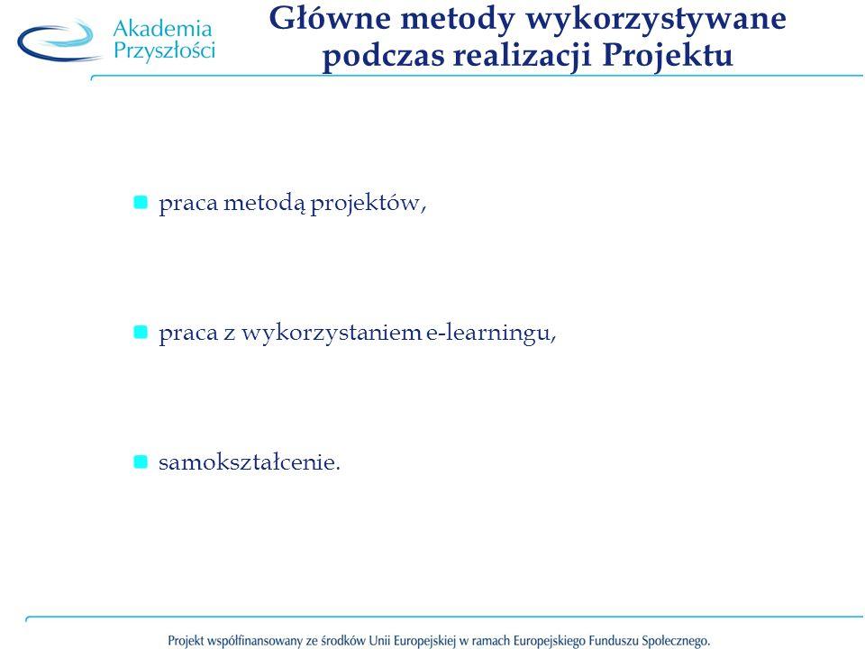 Główne metody wykorzystywane podczas realizacji Projektu