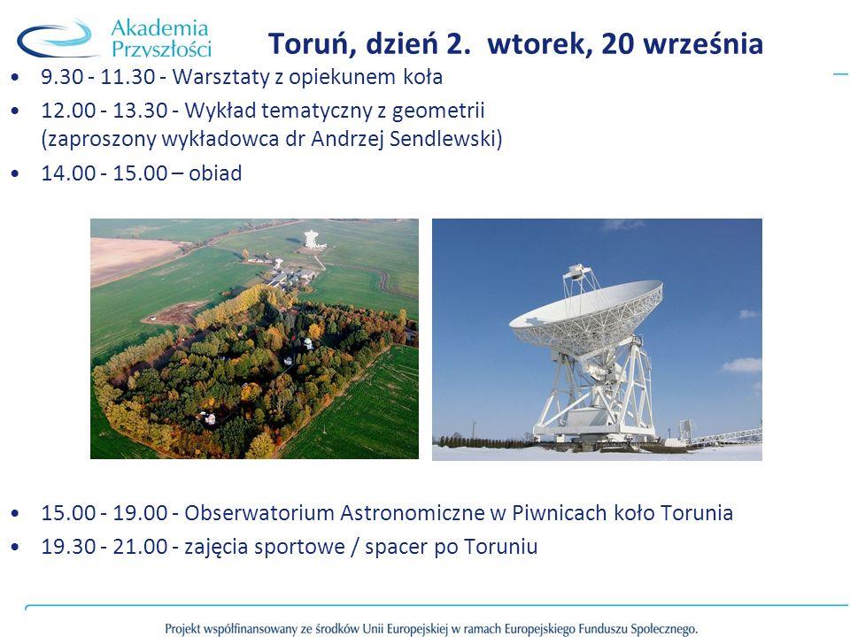 Toruń, dzień 2. wtorek, 20 września