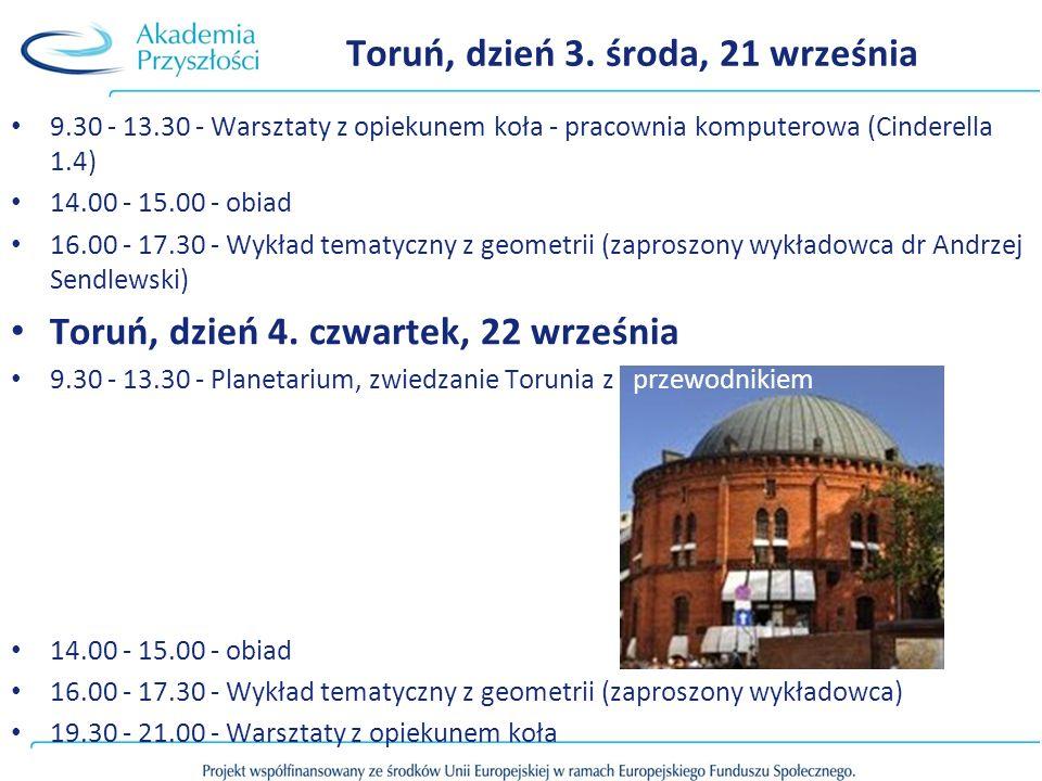 Toruń, dzień 3. środa, 21 września