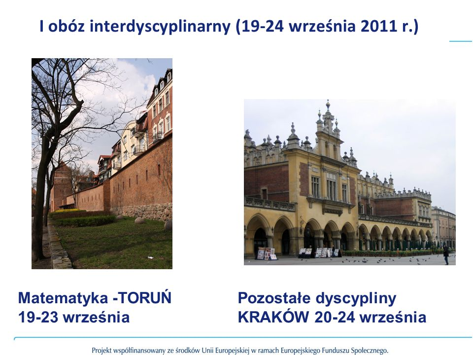 I obóz interdyscyplinarny (19-24 września 2011 r.)