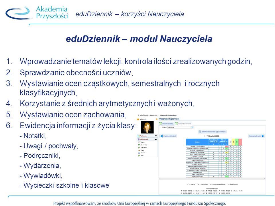 eduDziennik – korzyści Nauczyciela