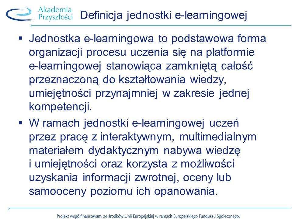 Definicja jednostki e-learningowej