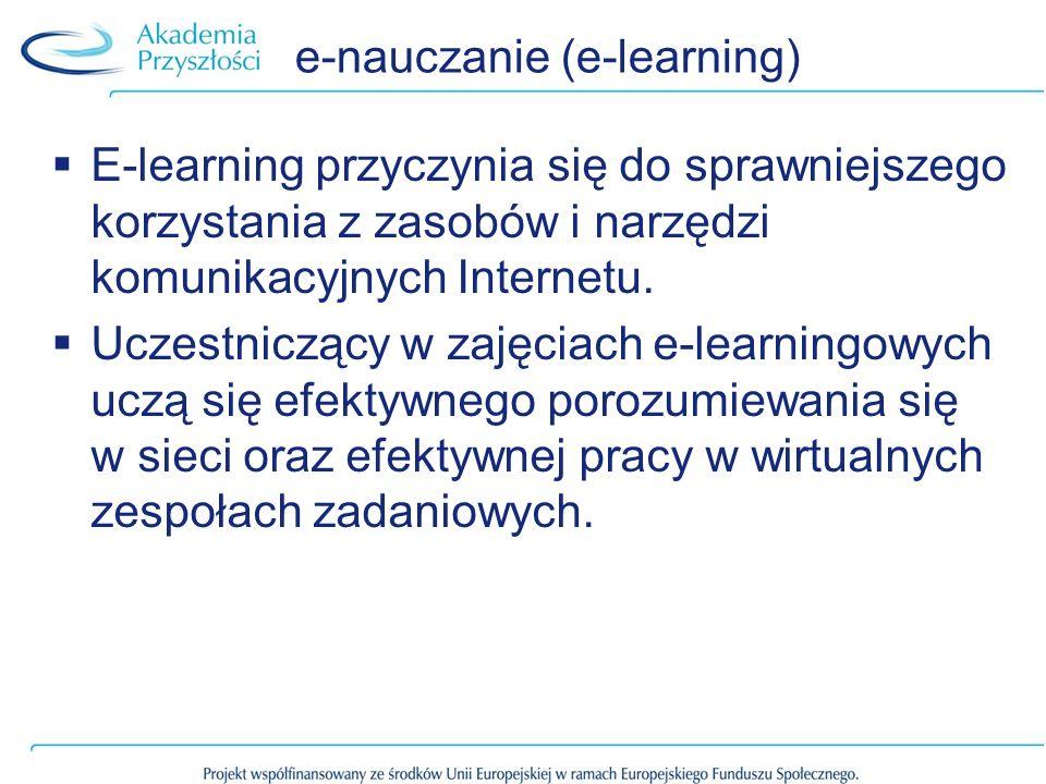 e-nauczanie (e-learning)