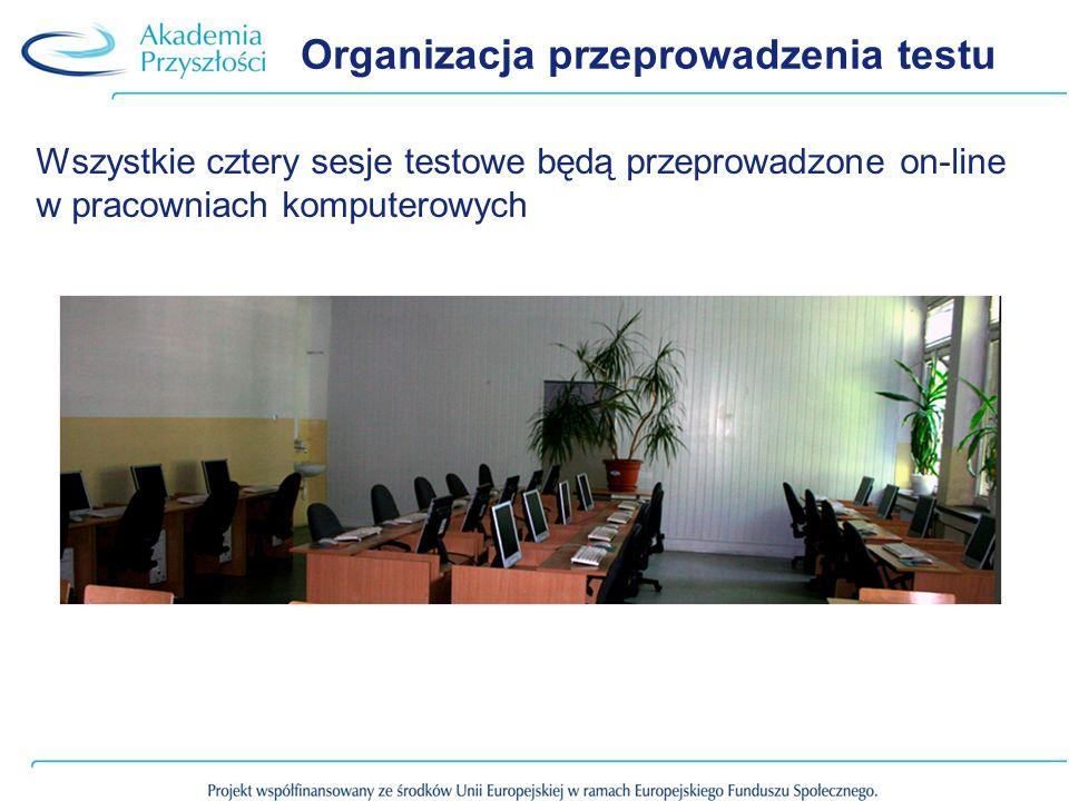 Organizacja przeprowadzenia testu
