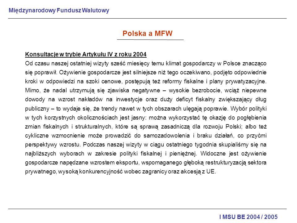 Polska a MFW Konsultacje w trybie Artykułu IV z roku 2004
