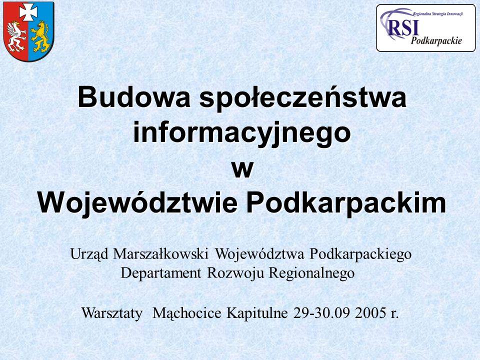 Budowa społeczeństwa informacyjnego w Województwie Podkarpackim