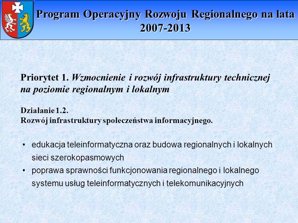 Program Operacyjny Rozwoju Regionalnego na lata 2007-2013
