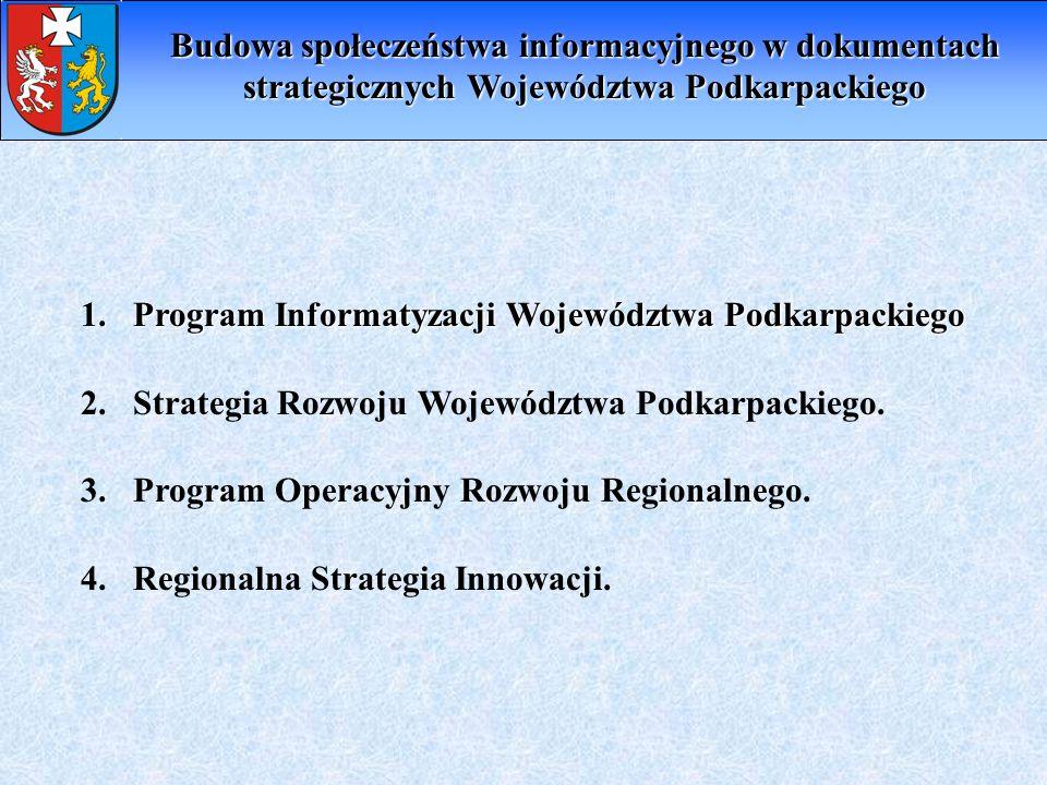 Budowa społeczeństwa informacyjnego w dokumentach strategicznych Województwa Podkarpackiego
