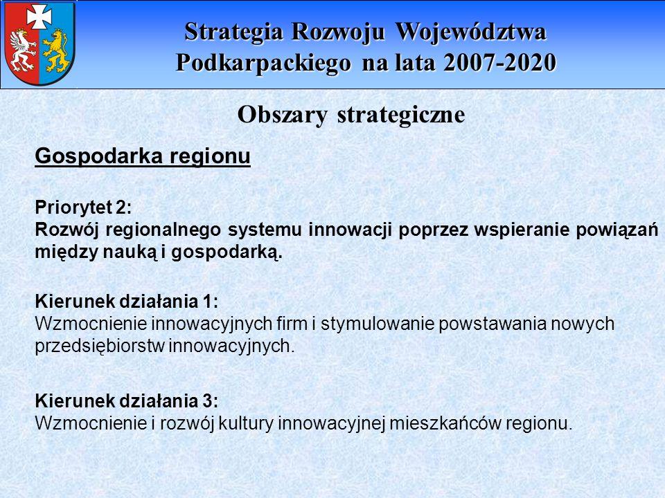 Strategia Rozwoju Województwa Podkarpackiego na lata 2007-2020