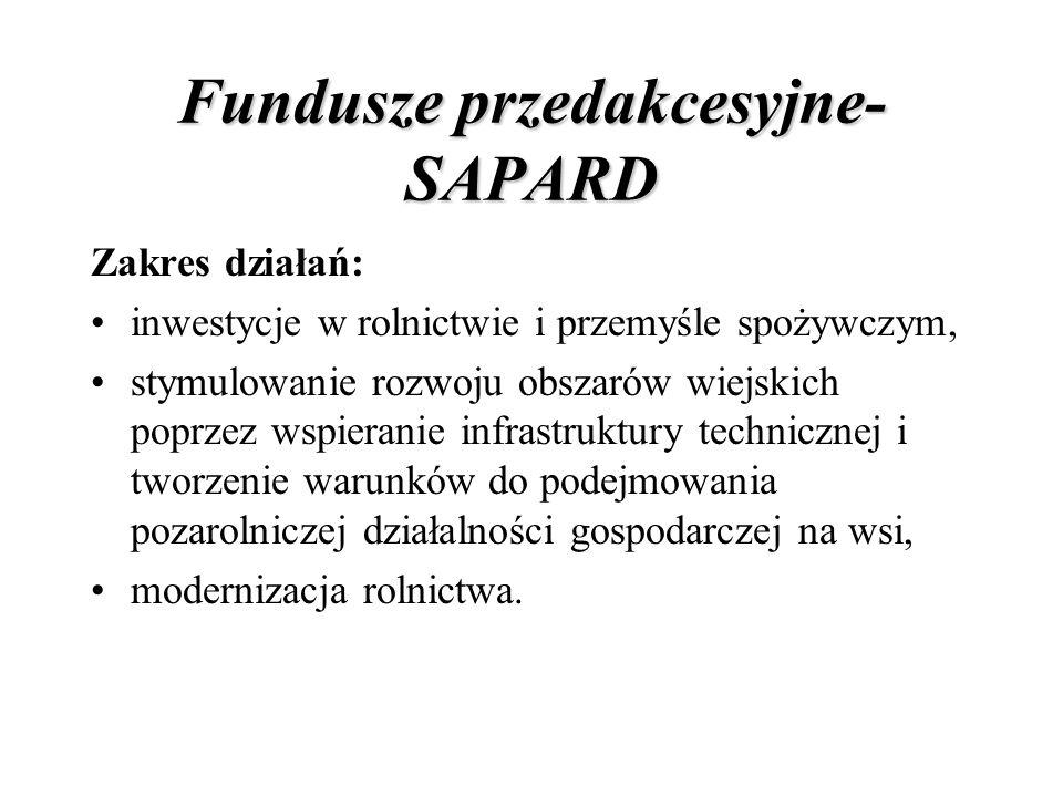 Fundusze przedakcesyjne- SAPARD
