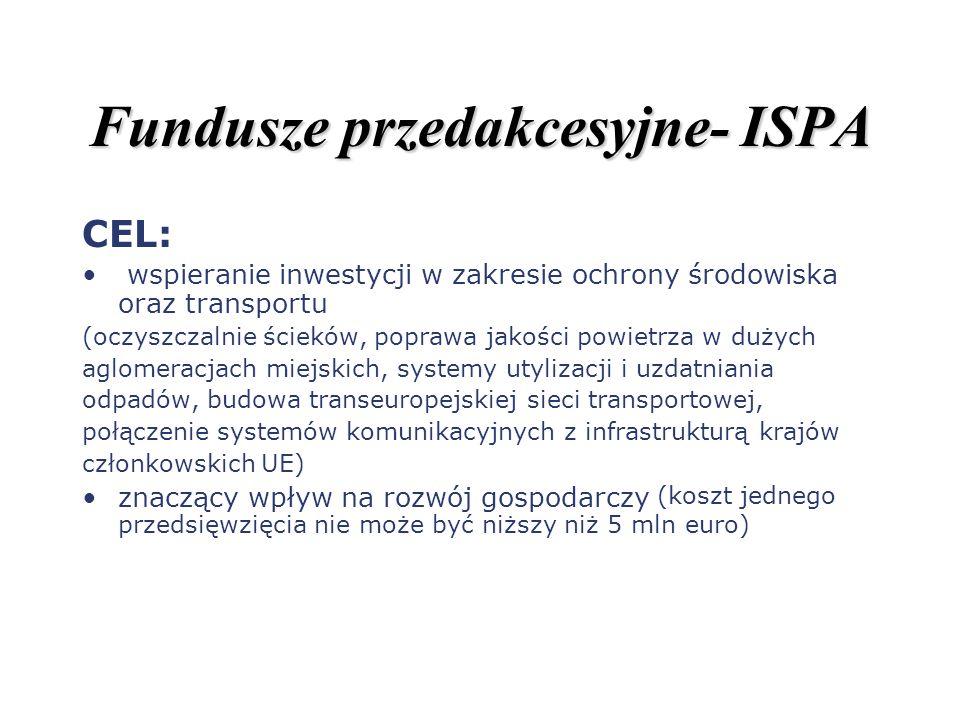 Fundusze przedakcesyjne- ISPA