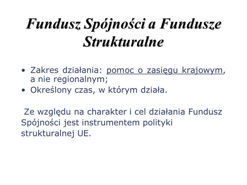 Fundusz Spójności a Fundusze Strukturalne