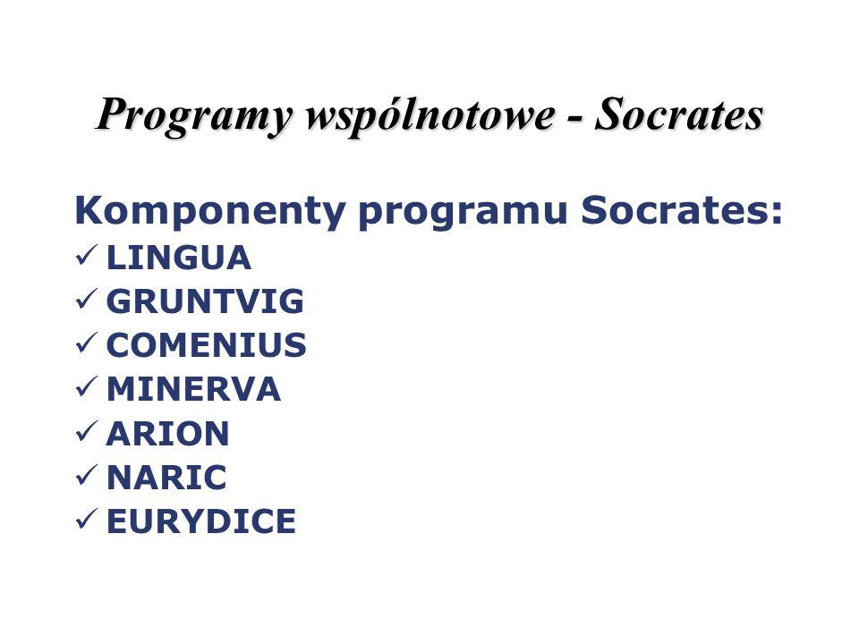 Programy wspólnotowe - Socrates