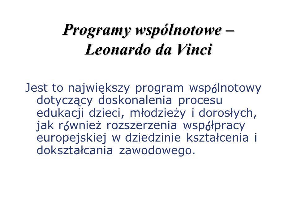 Programy wspólnotowe – Leonardo da Vinci
