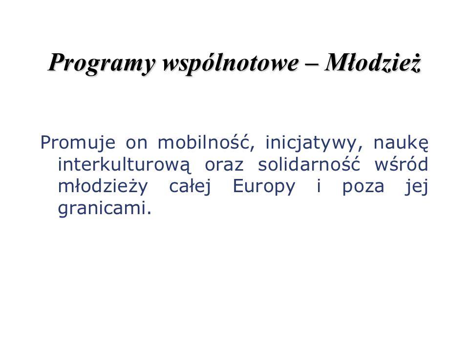 Programy wspólnotowe – Młodzież