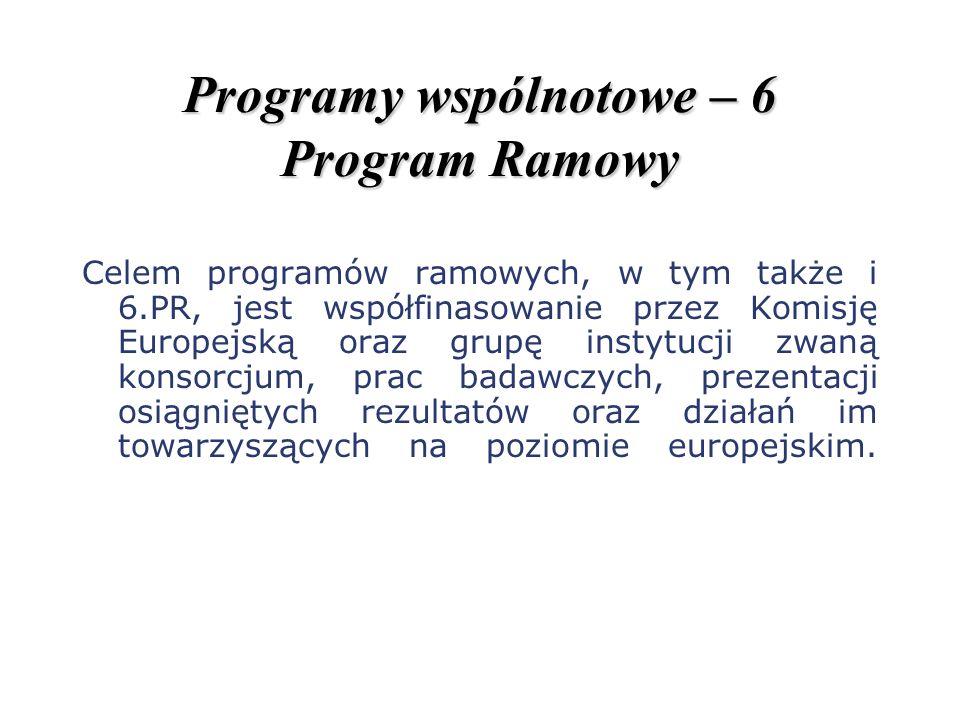 Programy wspólnotowe – 6 Program Ramowy