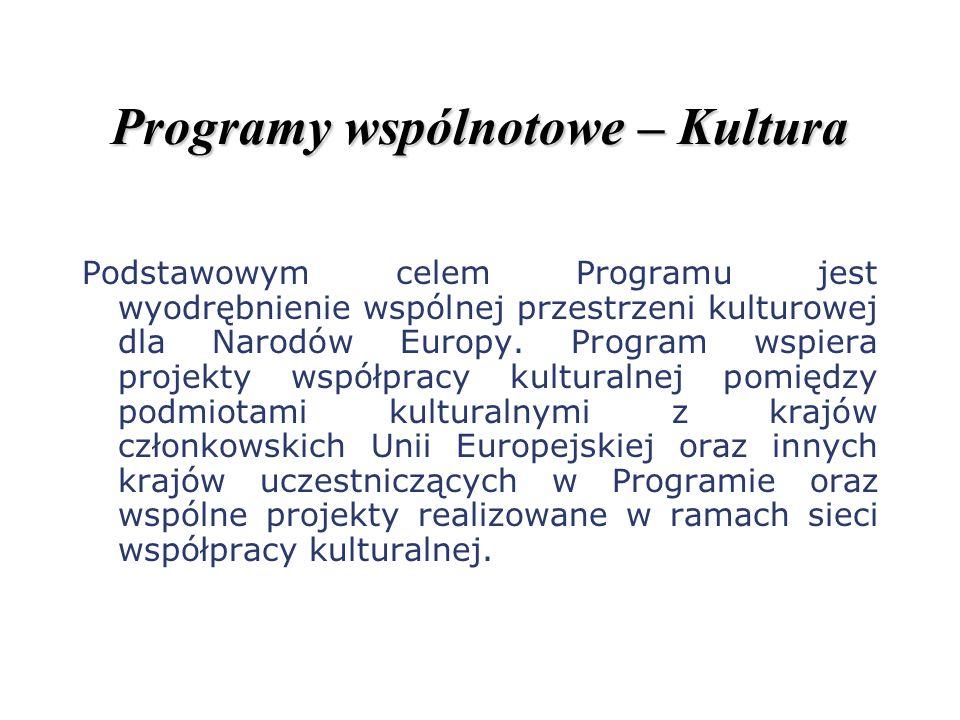 Programy wspólnotowe – Kultura