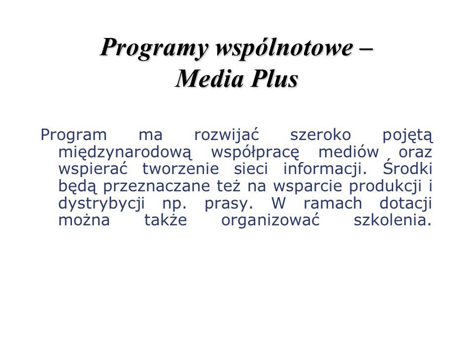 Programy wspólnotowe – Media Plus