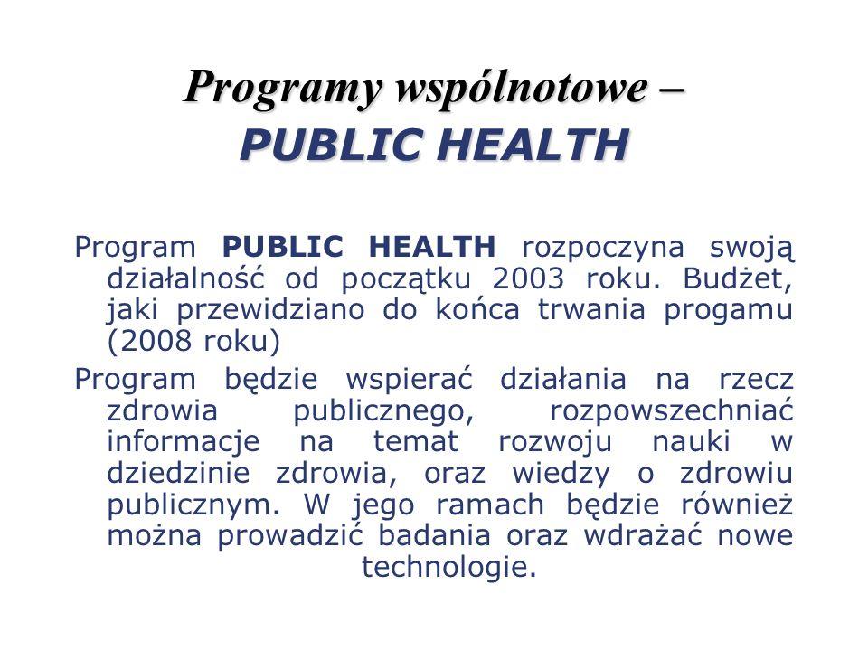 Programy wspólnotowe – PUBLIC HEALTH