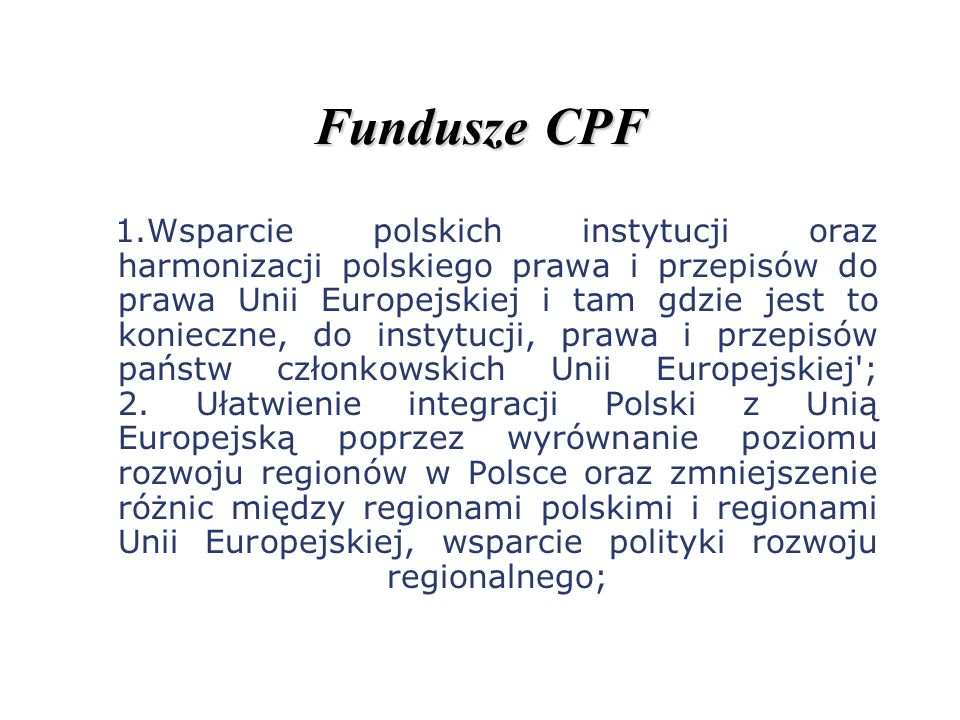 Fundusze CPF