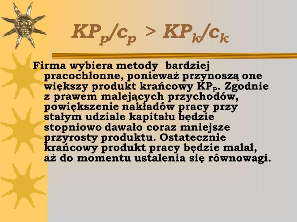 KPp/cp > KPk/ck