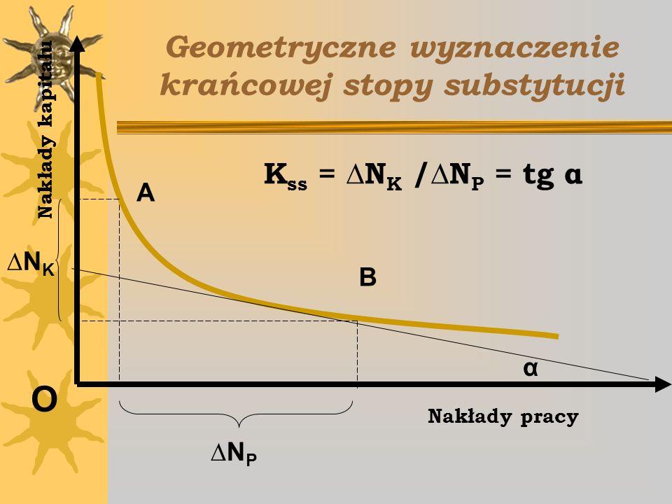 Geometryczne wyznaczenie krańcowej stopy substytucji
