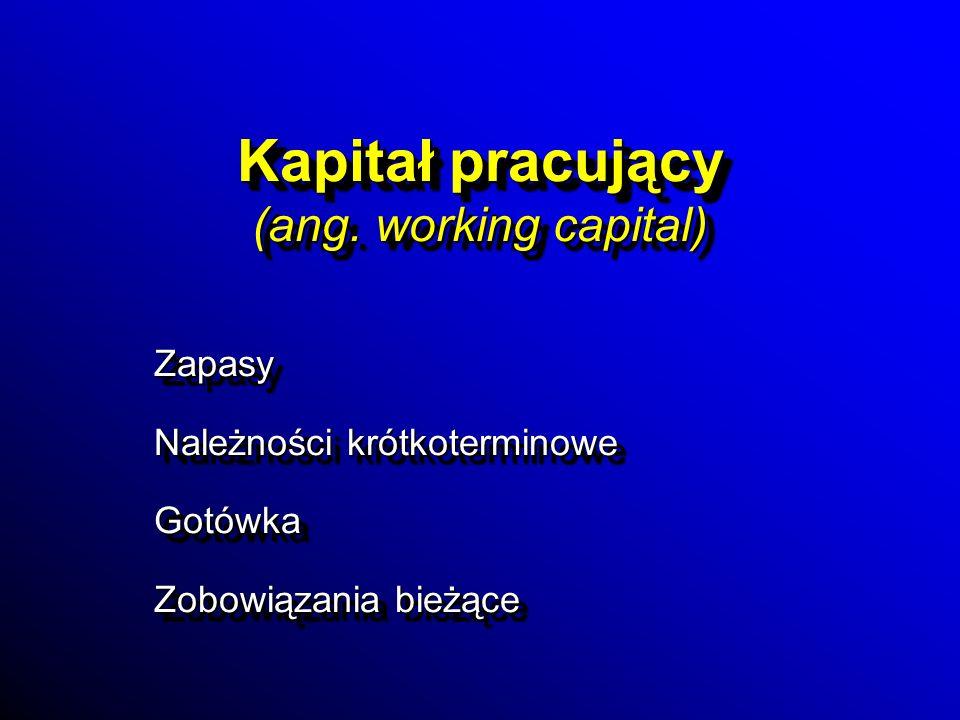 Kapitał pracujący (ang. working capital)