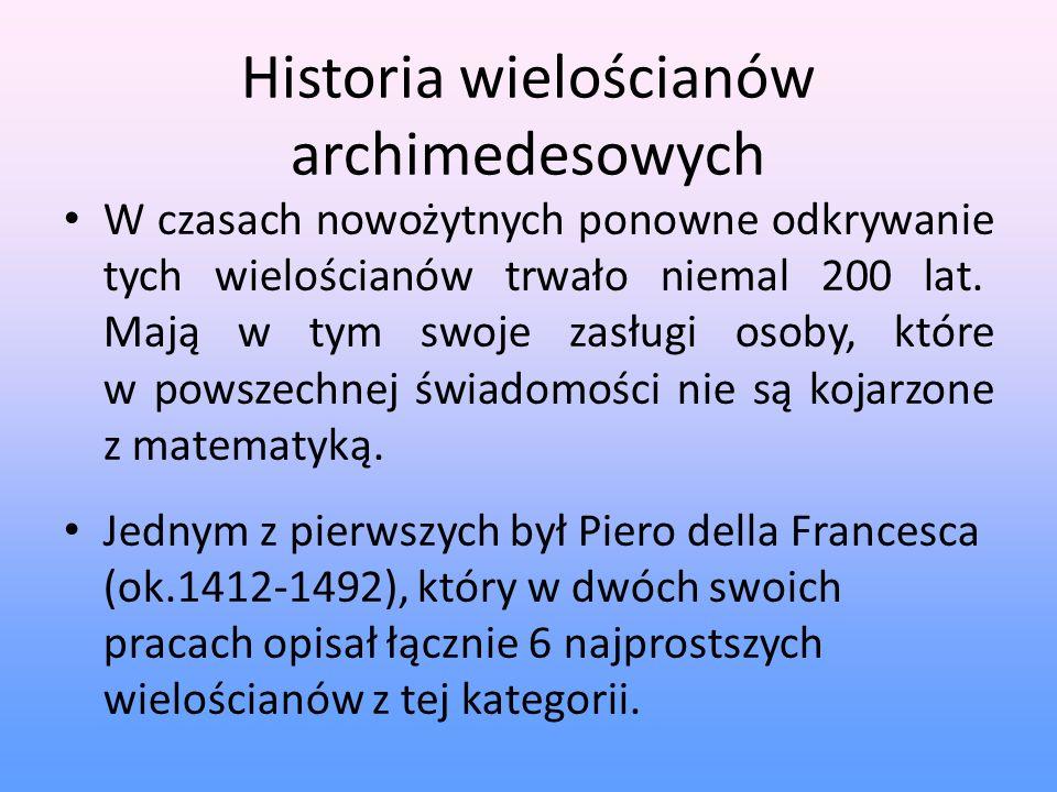 Historia wielościanów archimedesowych