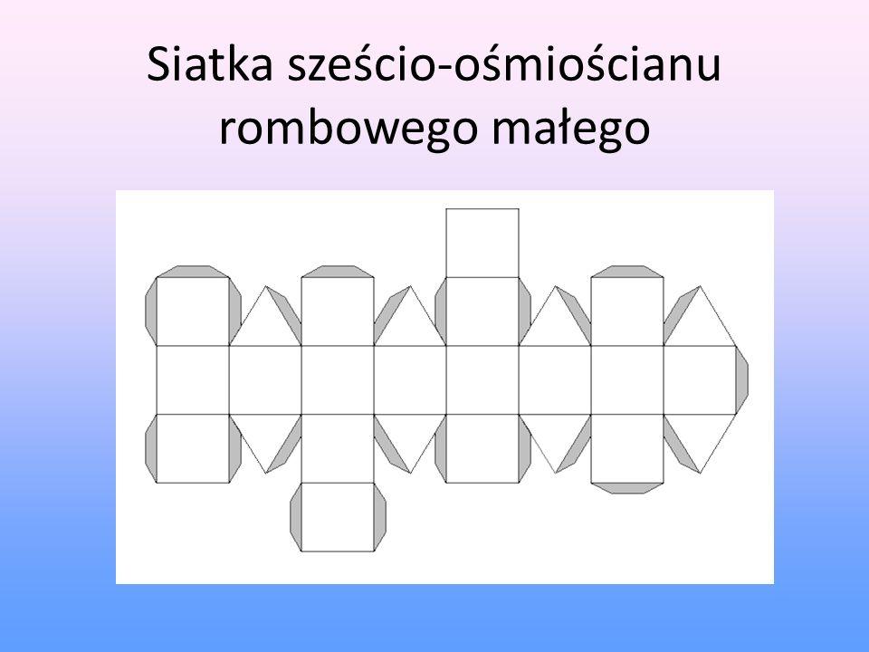 Siatka sześcio-ośmiościanu rombowego małego