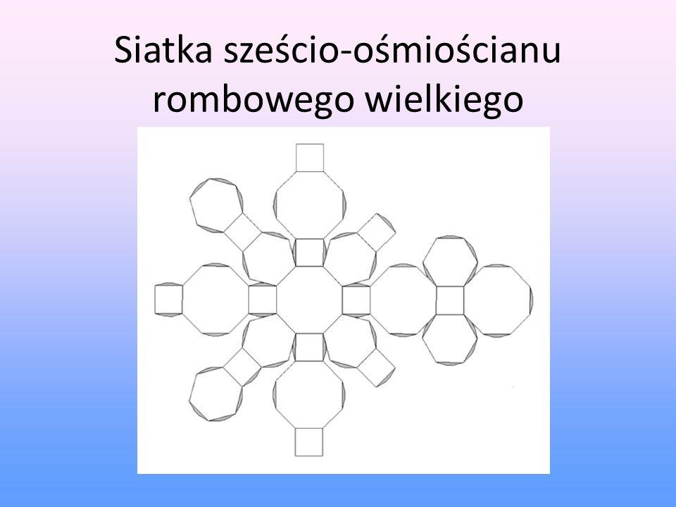 Siatka sześcio-ośmiościanu rombowego wielkiego