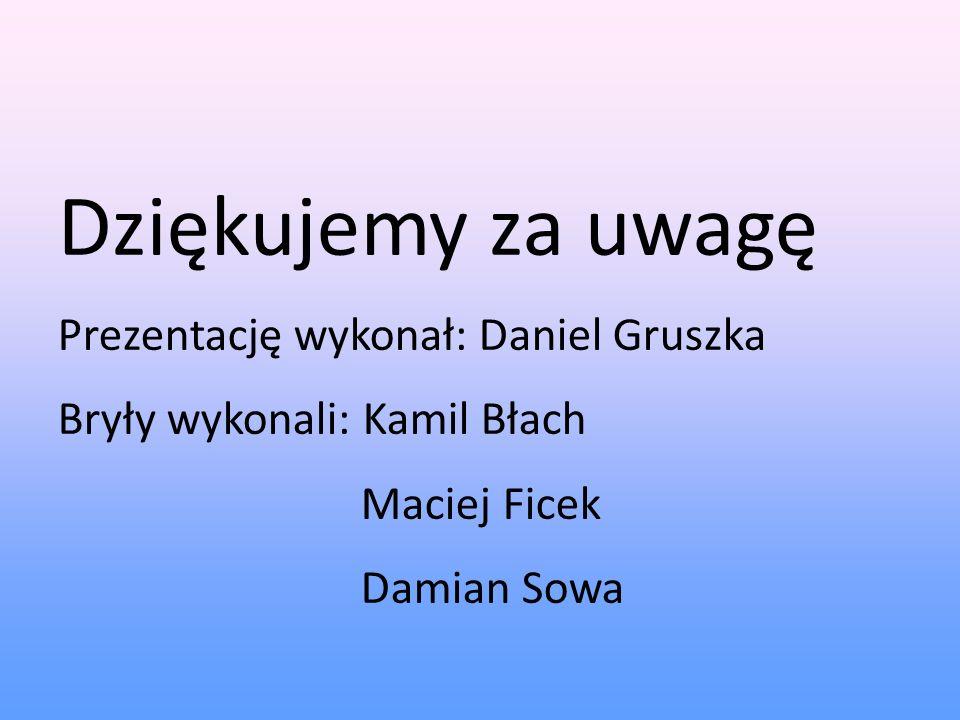Dziękujemy za uwagę Prezentację wykonał: Daniel Gruszka