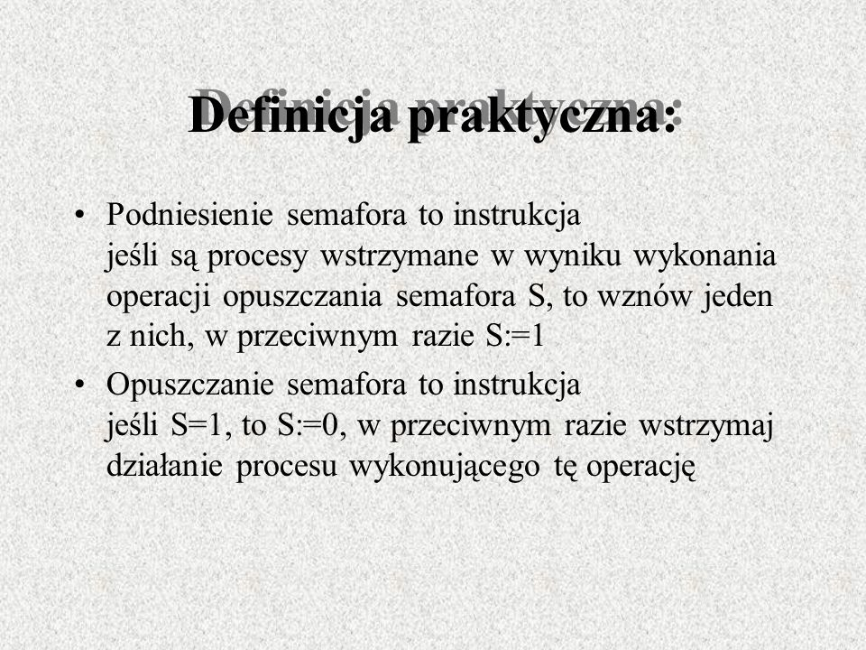 Definicja praktyczna: