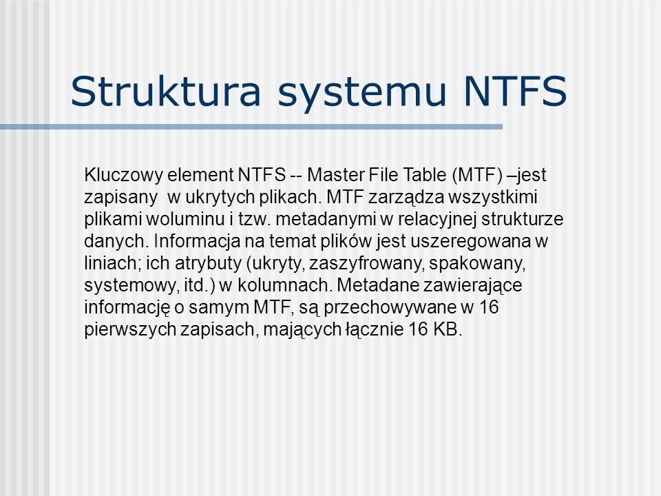 Struktura systemu NTFS