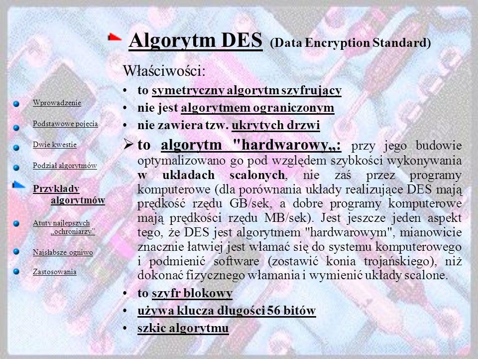 Algorytm DES (Data Encryption Standard)