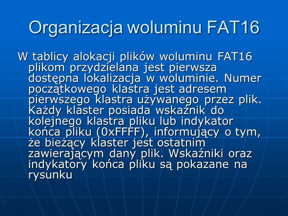 Organizacja woluminu FAT16