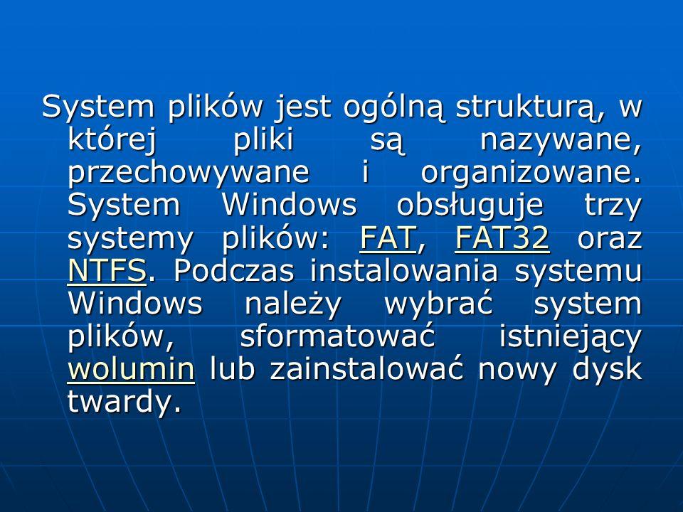 System plików jest ogólną strukturą, w której pliki są nazywane, przechowywane i organizowane.
