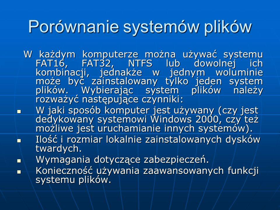 Porównanie systemów plików