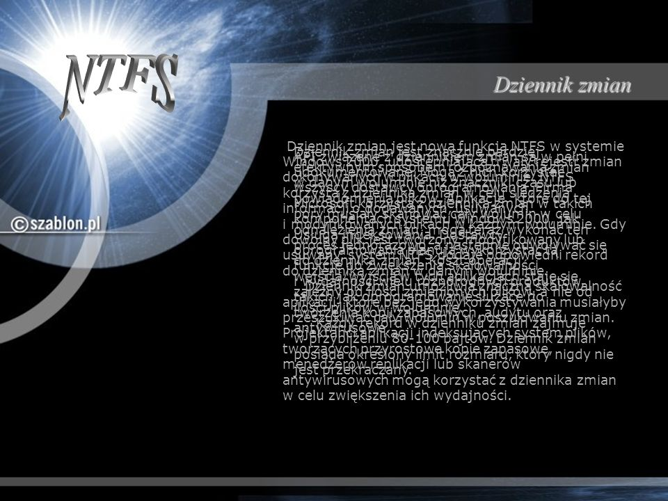 NTFS Dziennik zmian.