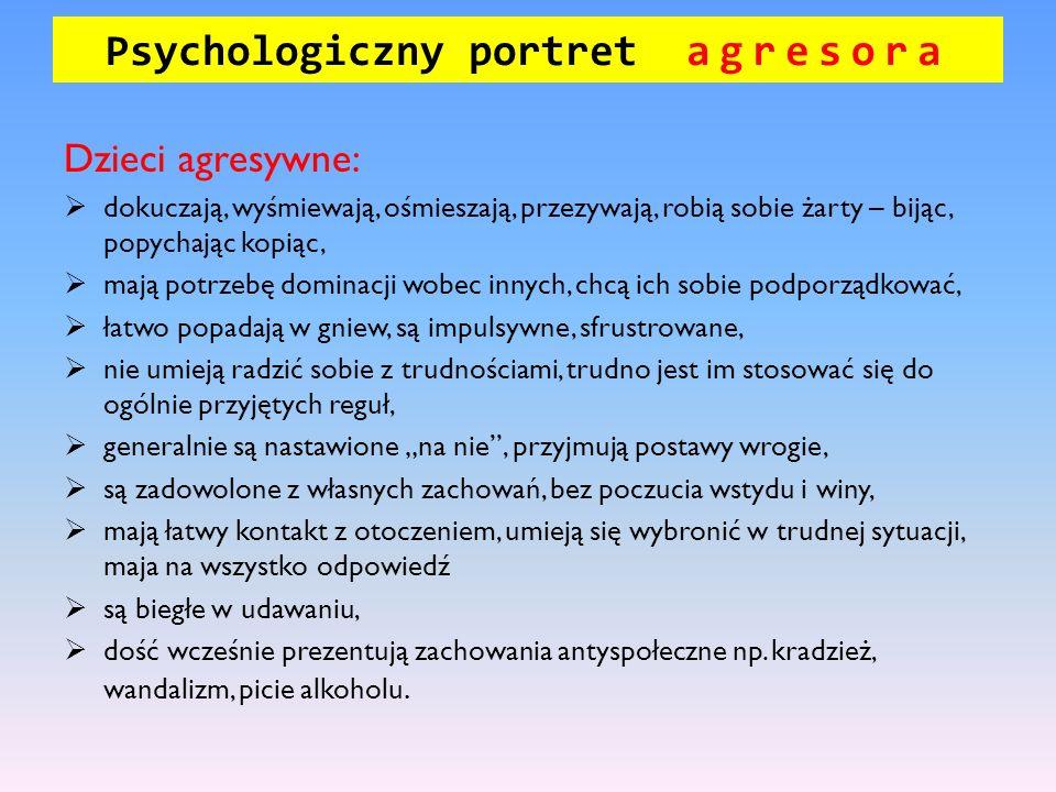 Psychologiczny portret agresora