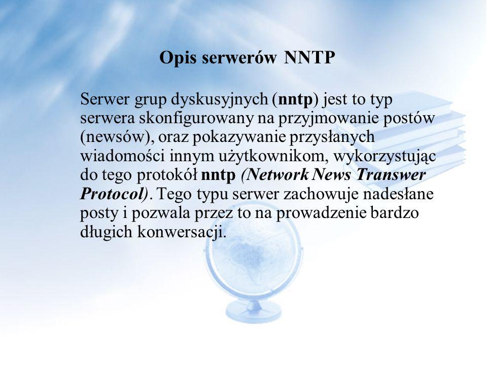 I wielu innych Opis serwerów NNTP