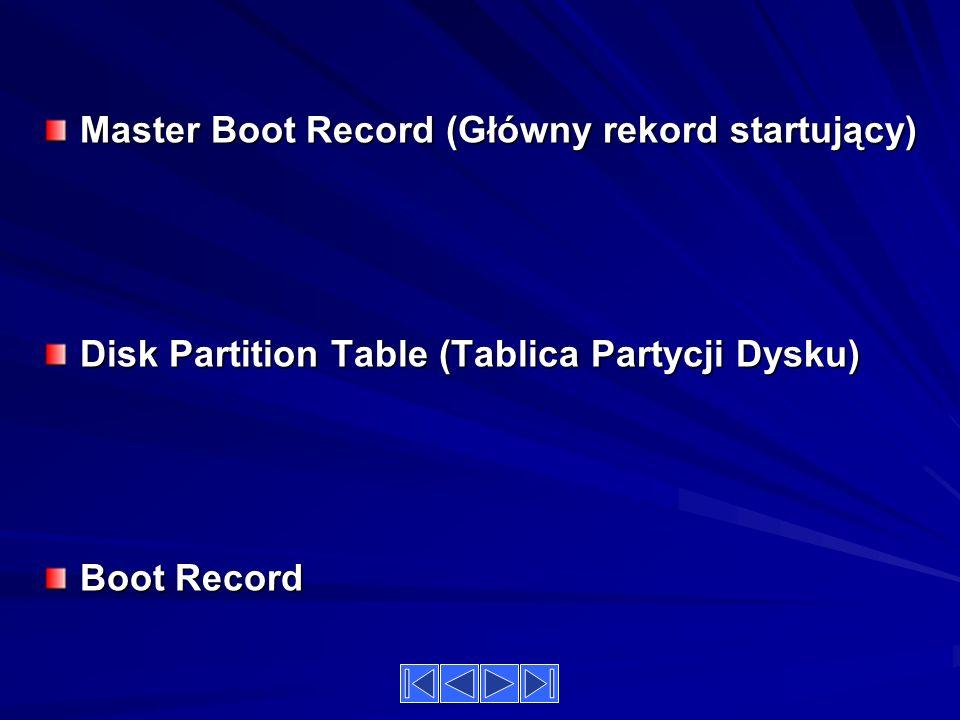 Master Boot Record (Główny rekord startujący)