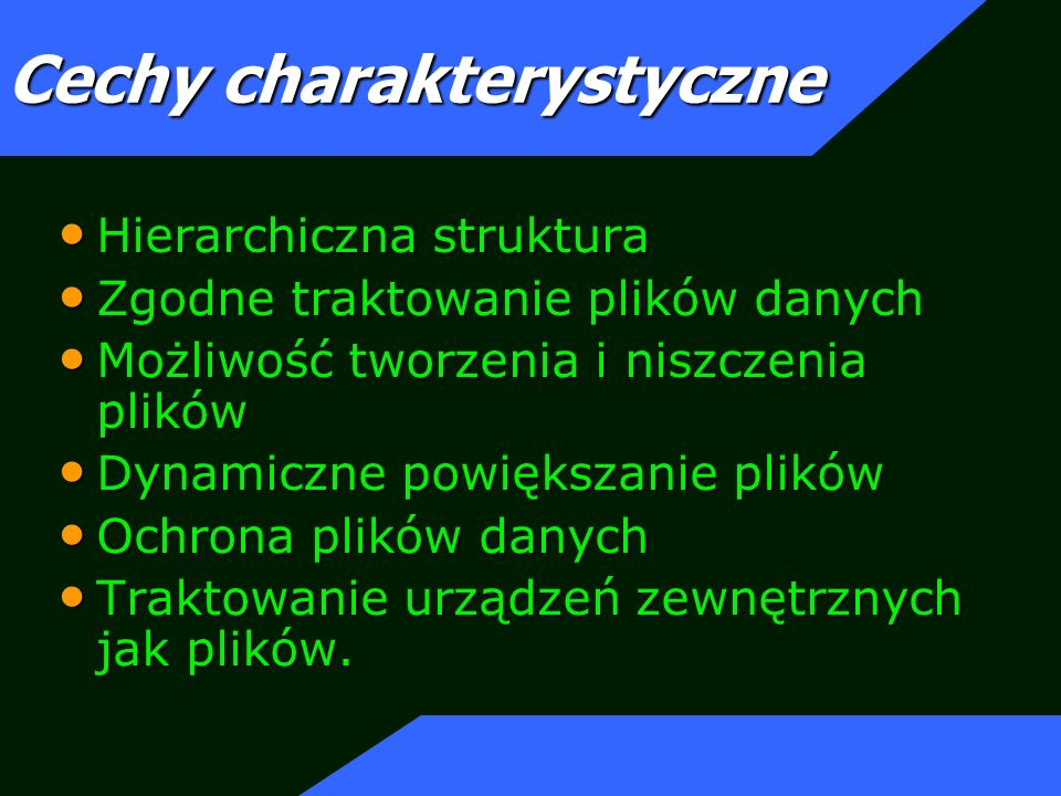 Cechy charakterystyczne