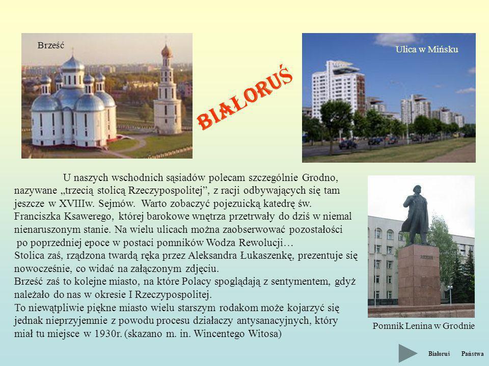 Brześć Ulica w Mińsku. BIAŁORUŚ.