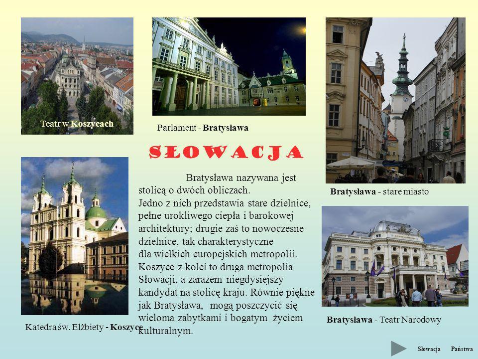 Słowacja Bratysława nazywana jest stolicą o dwóch obliczach.