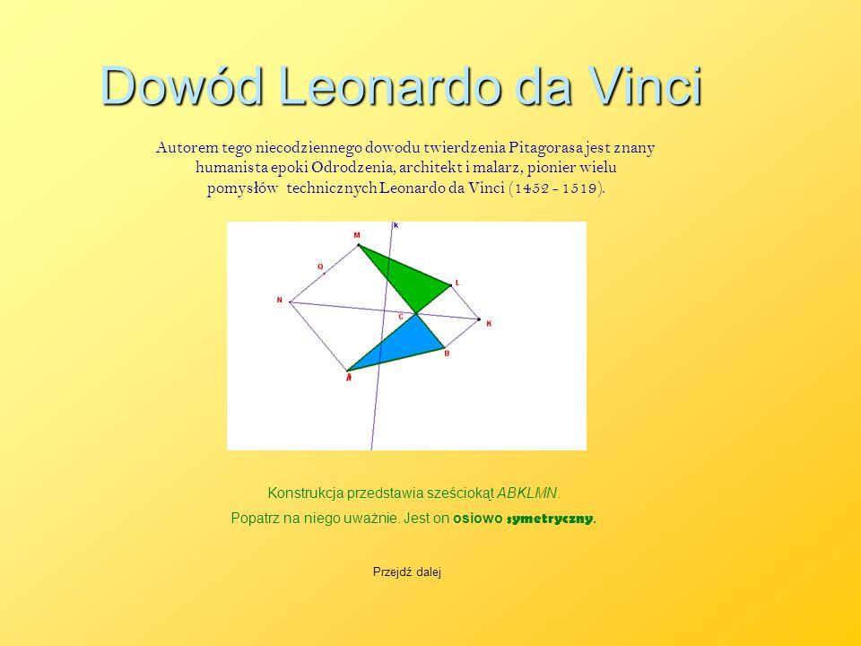Dowód Leonardo da Vinci