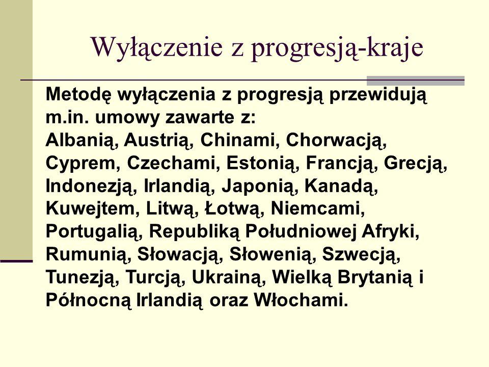Wyłączenie z progresją-kraje