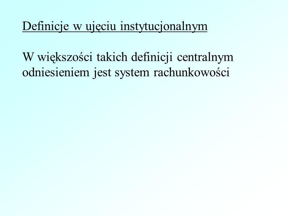Definicje w ujęciu instytucjonalnym