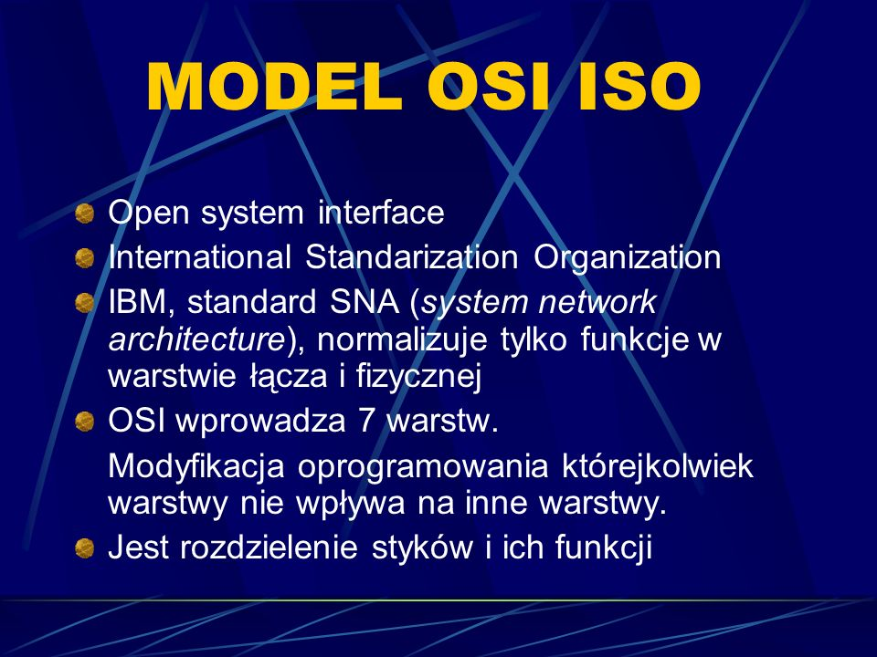 MODEL OSI ISO Open system interface