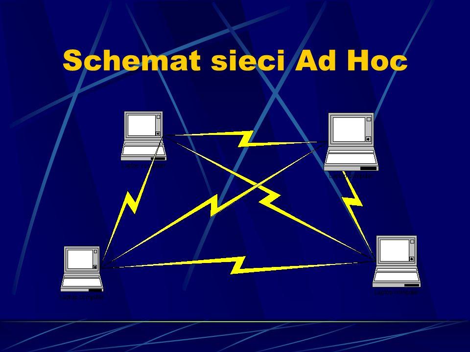 Schemat sieci Ad Hoc